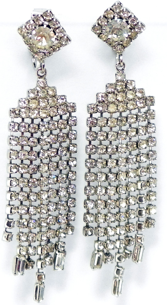 p crystal earrings glitz rhinestone and glamour
